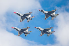 USAF Air Demonstration Squadron. The USAF Air Demonstration Squadron is the air demonstration squadron of the United States Air Force. The Thunderbirds are Royalty Free Stock Photo