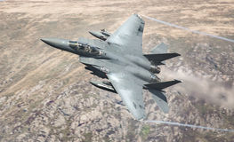 USAF American F15 jet royalty free stock photo