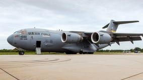 USAF Boeing γ-17A Globemaster ΙΙΙ στρατιωτικό μεταφορικό αεροπλάνο Στοκ εικόνα με δικαίωμα ελεύθερης χρήσης