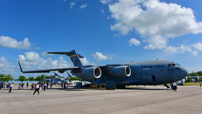 USAF Boeing C17 Globemaster III on display at Singapore Airshow Stock Photography