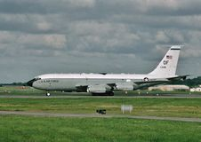 USAF Boeing EC-135C 63-8048 opodatkowywa przy Offutt AFB, Nebraska Zdjęcia Royalty Free