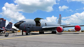 USAF Boeing military cargo plane at Airshow 2010 Stock Image