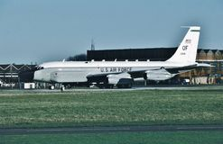 USAF Boeing RC-135V 64-14844 another mission well done. Royalty Free Stock Image