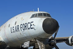 USAF Bomber. Decommisioned US Air Force Bomber from the 1950's Stock Photos