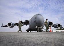 USAF C-17 Globemaster royalty free stock photo