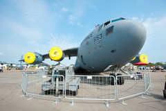 USAF cargo plane at Singapore Airshow 2014 Stock Image