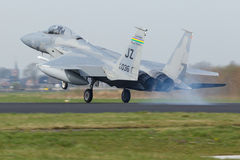 USAF F-15 Eagle during the Frisian Flag exercise royalty free stock photo