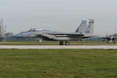 USAF F-15 Eagle during the Frisian Flag exercise Stock Photos