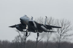 USAF F-15 Eagle during the Frisian Flag exercise Stock Photography