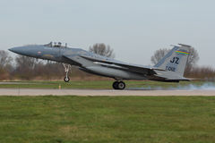 USAF F-15 Eagle during the Frisian Flag exercise Royalty Free Stock Photos