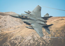 USAF F15 from RAF Lakenheath. Reports are coming in the a USAF F15 D fighter jet from RAF Lakenheath has gone down and crashed today October 8th 2014 at 1540 Royalty Free Stock Photos