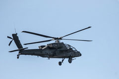 USAF helicopter. A United States Airforce helicopter flying out of Whiteman Airforce Base in centeral Missouri USA royalty free stock image