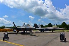USAF Lockheed Martin F-22 Raptor on display at Singapore Airshow Stock Images