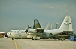 USAF lockheed WC-130H 65-0977 CN 382-4127 Royalty Free Stock Photography