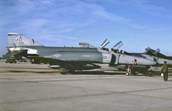 USAF McDonnell F-4E `MIG Killer 67-0301. United states Air Force McDonnell F-4E 67-0301 CN 3081 . This aircraft shot down a Mig-21 over North Vietnam on October royalty free stock images