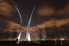 USAF Memorial Spires Illuminated Washington DC Stock Photography