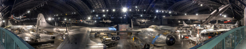 USAF Museum Dayton, OHIO Cold War Gallery Panorama. United States Air force Museum Dayton, OHIO Cold War Gallery Panorama HDR Royalty Free Stock Images