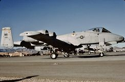 USAF Republic Fairchild A-10A 80-200 at Nellis AFB Royalty Free Stock Photography