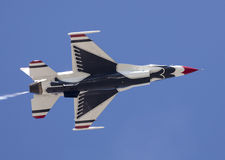 USAF Thunderbird F-16. Plane flying at the airshow in Atlantic City performing a flyby Stock Photo