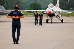 USAF Thunderbird ground team Royalty Free Stock Photo
