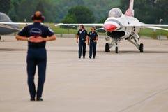 USAF Thunderbird ground team royalty free stock photo
