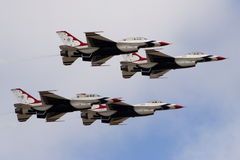 USAF Thunderbirds. The Thunderbirds at the Salinas International Airshow stock photo