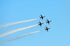 USAF Thunderbirds Diamond Formation royalty free stock photography
