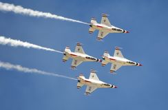 USAF Thunderbirds flying in formation Royalty Free Stock Photo