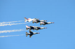 USAF Thunderbirds in Formation Stock Photos
