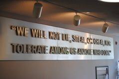 USAFA荣誉代码 库存图片