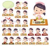 Usage d'infirmière women_Meal illustration stock