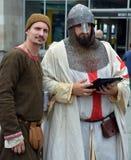 Usage de personnes comme Moyen Âge Image libre de droits