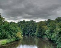 Usage de rivière, Brancepeth, Co Durham, R-U Image stock