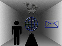 Usage de Web illustration libre de droits