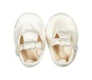 Usage du ` s d'enfants - chaussures de bébé nouveau-nées élégantes du ` s d'enfant de coton Photos libres de droits