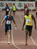 Usain Bolt. ( JAM ) at the men 100  meters in the Zurich golden league meeting.Zurich.2009-08-28 Stock Photography