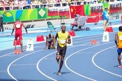 Usain Bolt ai Olympics Rio2016 Immagine Stock