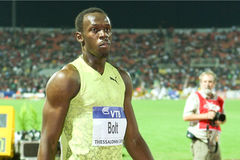 Usain Bolt Mens 100m  World Athletics Final 2009 Stock Photo