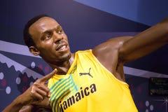 Usain Bolt na senhora Tussauds de Londres foto de stock