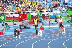 Usain Bolt på OS:er Rio2016 Royaltyfria Foton
