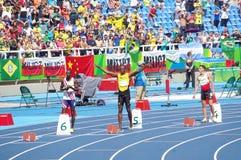 Usain Bolt på OS:er Rio2016 Arkivbilder