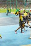 Usain Bolt victory walk at Rio2016 Olympics Stock Photo