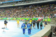 Usain Bolt victory walk at Rio2016 Olympics Royalty Free Stock Photography
