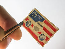 USAirmail stamp Royalty Free Stock Photo