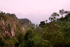 Usambara山。 日落 免版税库存照片