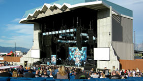 Usana Ampitheatre. In Utah with the set of Coheed and Cambria on stage Stock Image