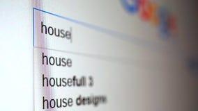 Usando el Search Engine de Internet para encontrar la información sobre casa de la palabra Vídeo macro metrajes