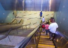 Usando el subterráneo en LA Fotos de archivo libres de regalías
