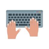 Usando el teclado stock de ilustración