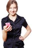 Usando el teléfono Imagen de archivo libre de regalías